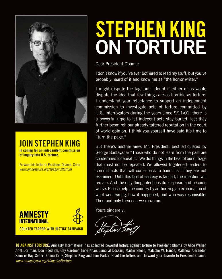 Stephen King Torture Barack Obama