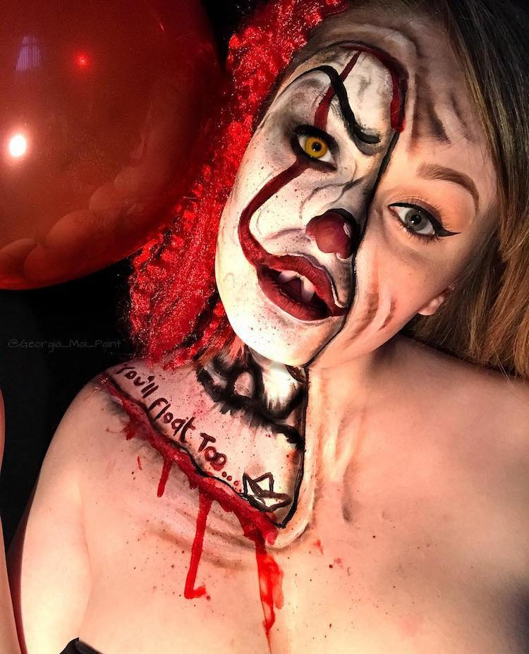 Pennywise Makeup Instagram 14 Georgia Mai Paint