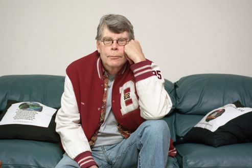 Writer Stephen King Is Interviewed In His Bangor, Maine Office.
