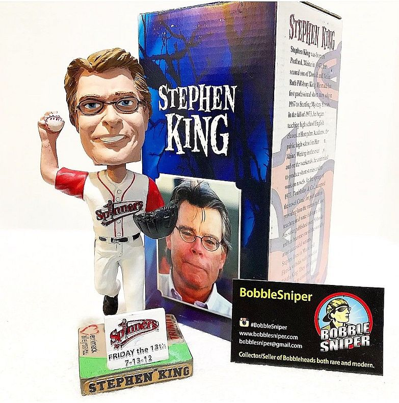 Stephen King Red Sox Lowell Spinners Bobblehead 07 2012