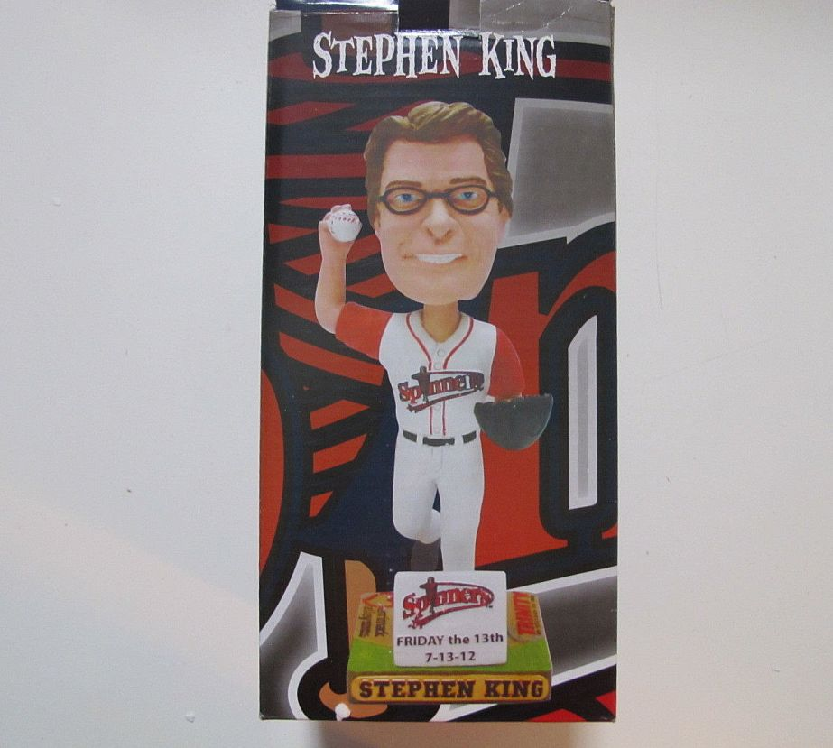 Stephen King Red Sox Lowell Spinners Bobblehead 05 2012