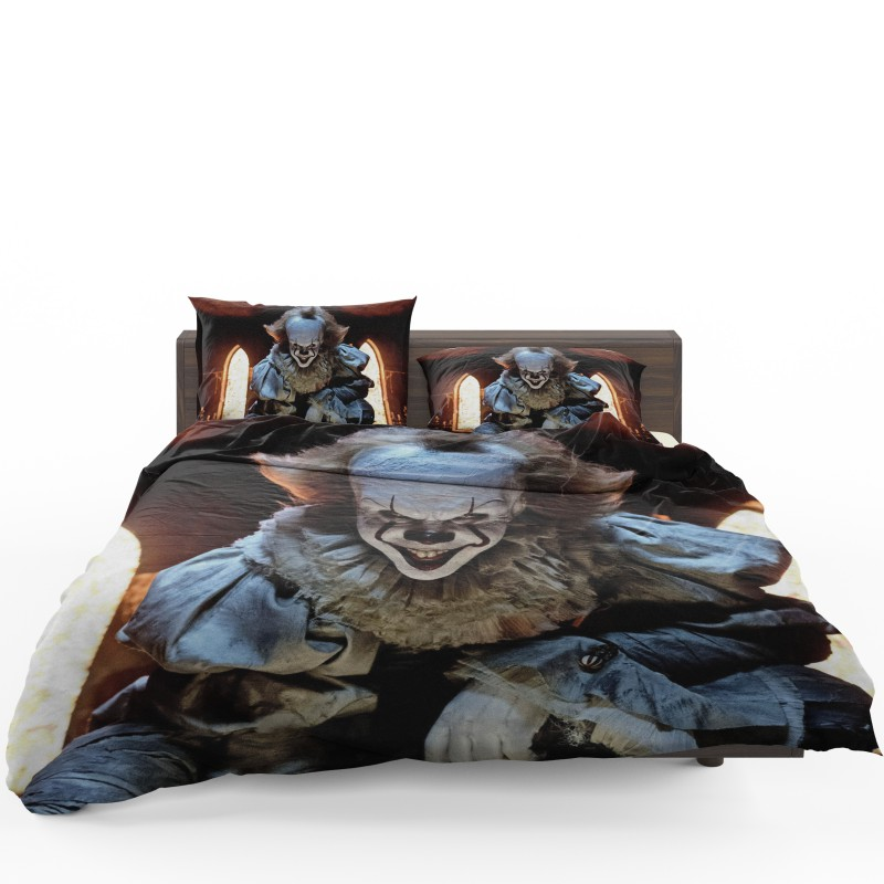Bill Skarsgard Pennywise Clown It Bedding Set1