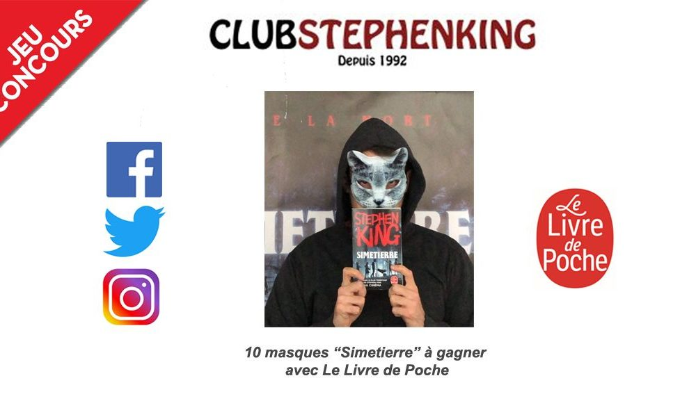 Concours masques Simetierre Stephen King