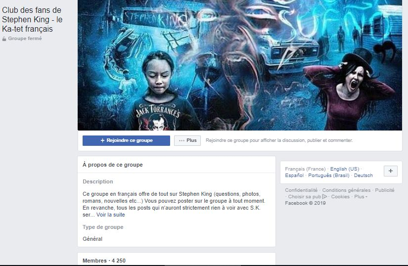 Groupe Fans Stephenking Facebook