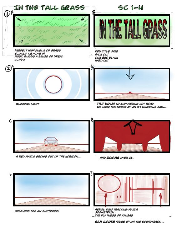 Inthetallgrass Film Netflix Stephen King Storyboard 2