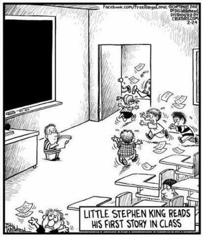 Stephenking Enfant Lit Une Histoire En Classe