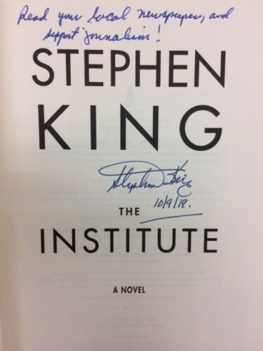 Theinstitute Stephenking Signed