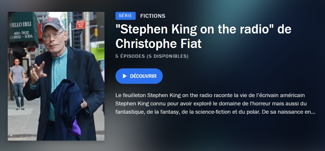 Stephenking On The Radio Franceculture