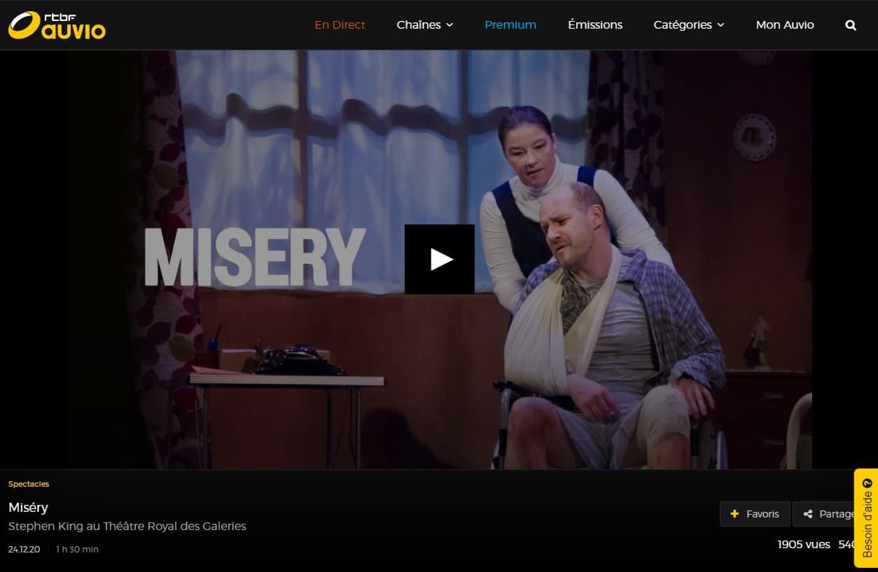 Misery Theatre Belgique Rtbf