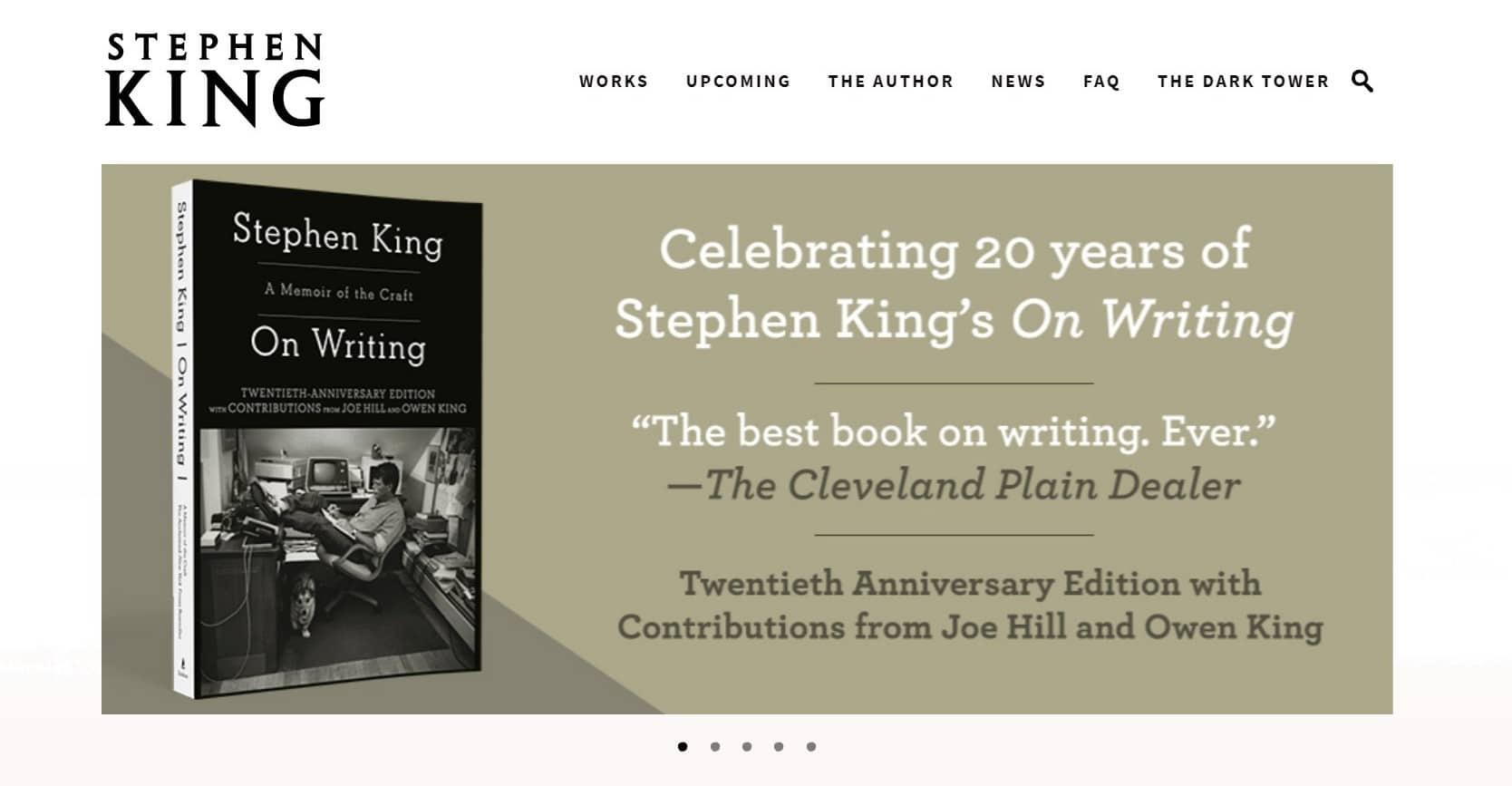 Stephenking Official Website 04 2020 Header
