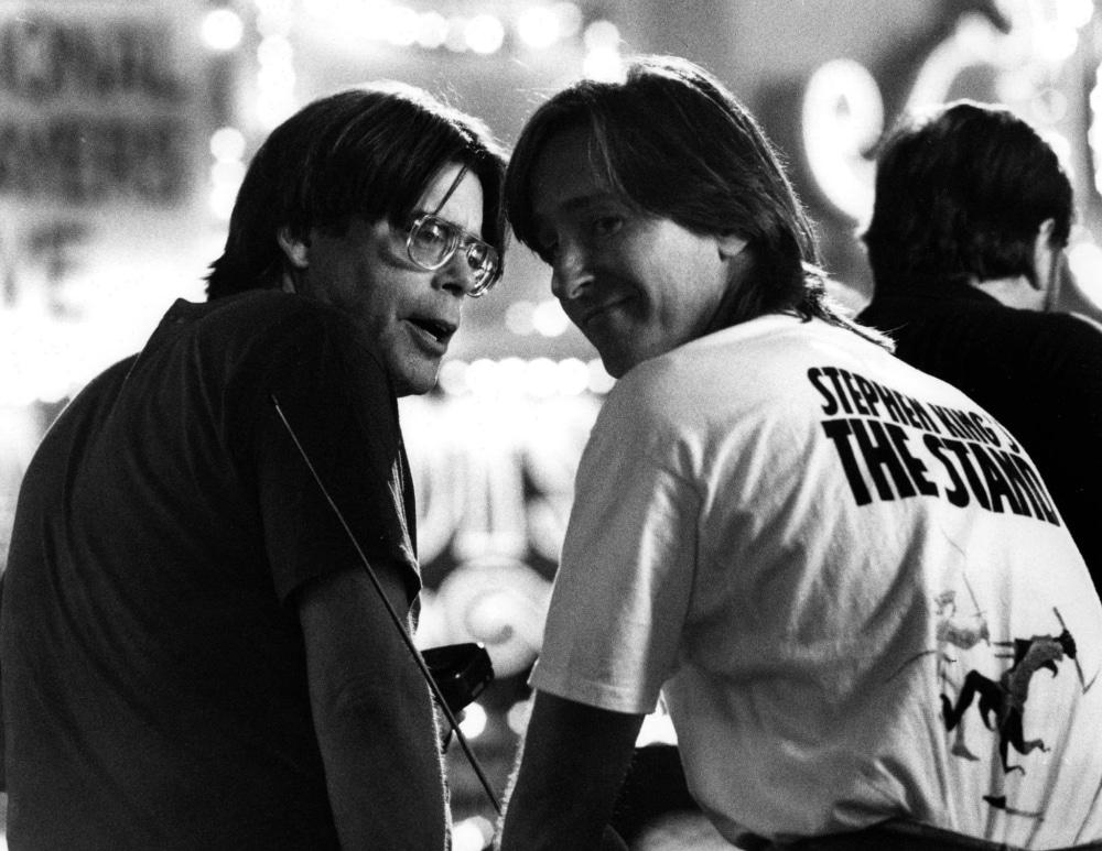 Stephen King Et Mick Garris Photo Tournage Le Fleau The Stand