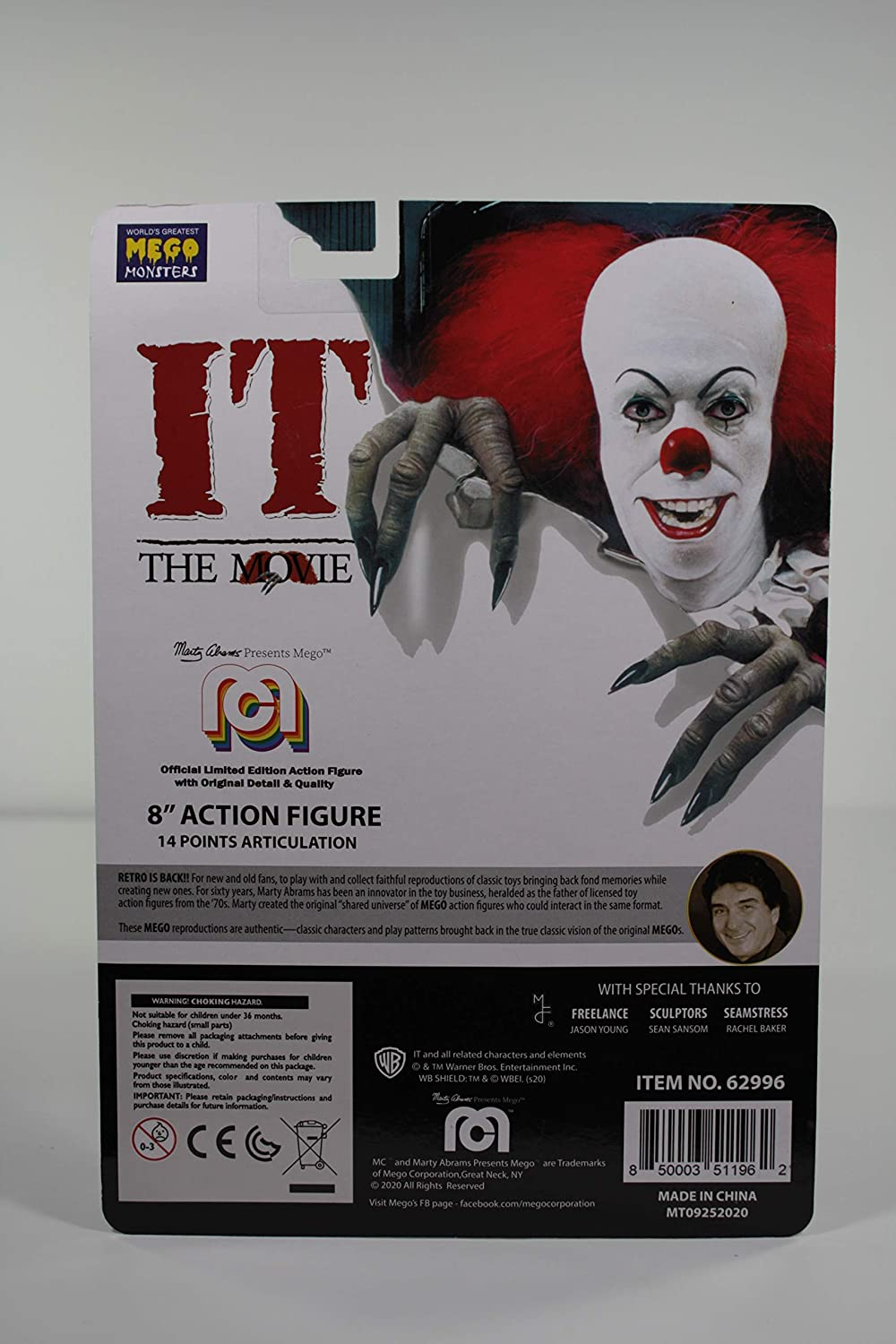 Mego Figurine Grippesou Pennywise 1990 Version2020 Photo2