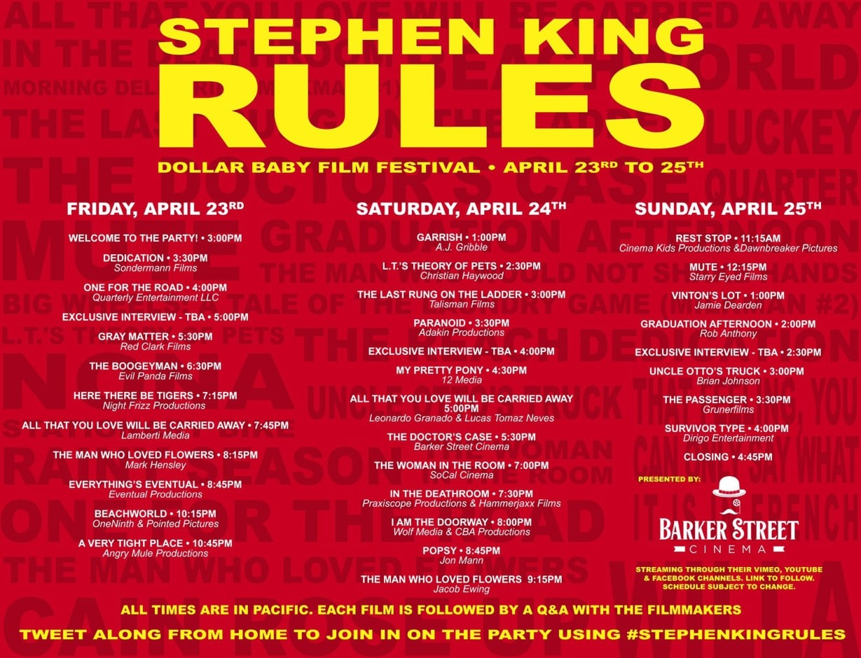 Stephenkingrules Dollarbaby Festival Times V2