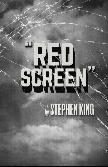 Red Screen Nouvelle Inedite Stephenking Couverture