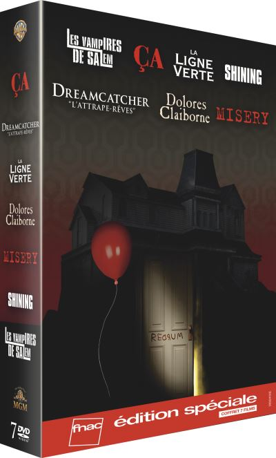 Coffret Stephen King Edition Speciale Fnac Dvd