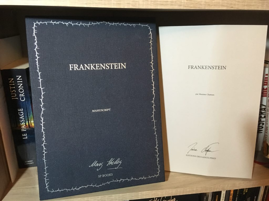 Frankenstein Manuscrit Editions Saint Peres