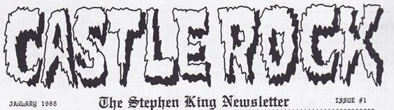 Castle Rock Stephen King newsletter front title