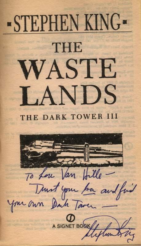 Stephen King signed The Waste Lands