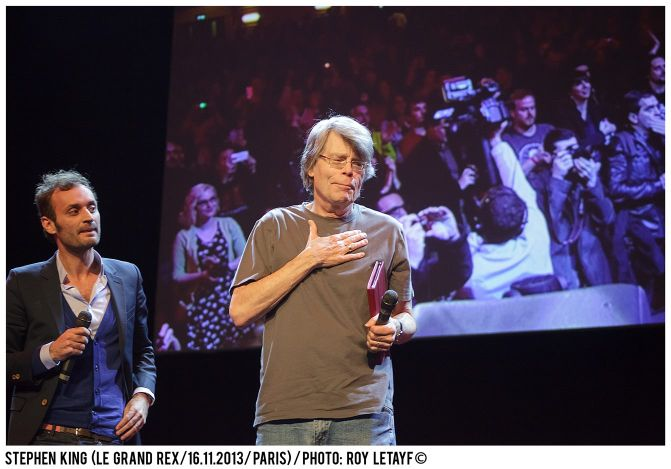 Stephen King au Grand Rex, France. Photo roy letayf