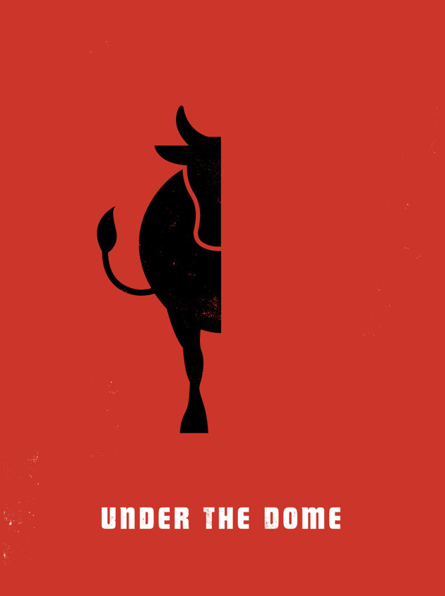 [cbs under the dome cow poster comic con]