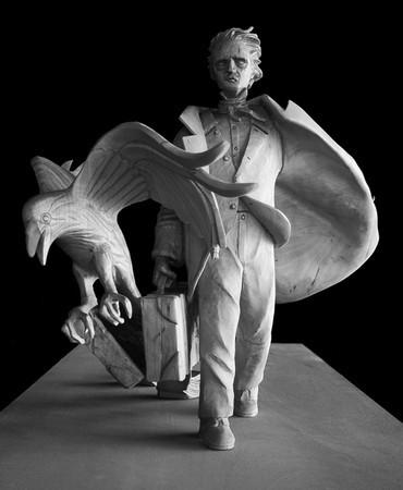 [Edgar Allan Poe memorial by Stefanie Rocknak]