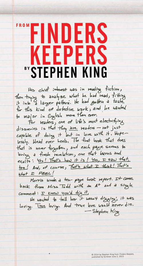 [finderskeepersbroadsidecatalog stephenking finders keepers]