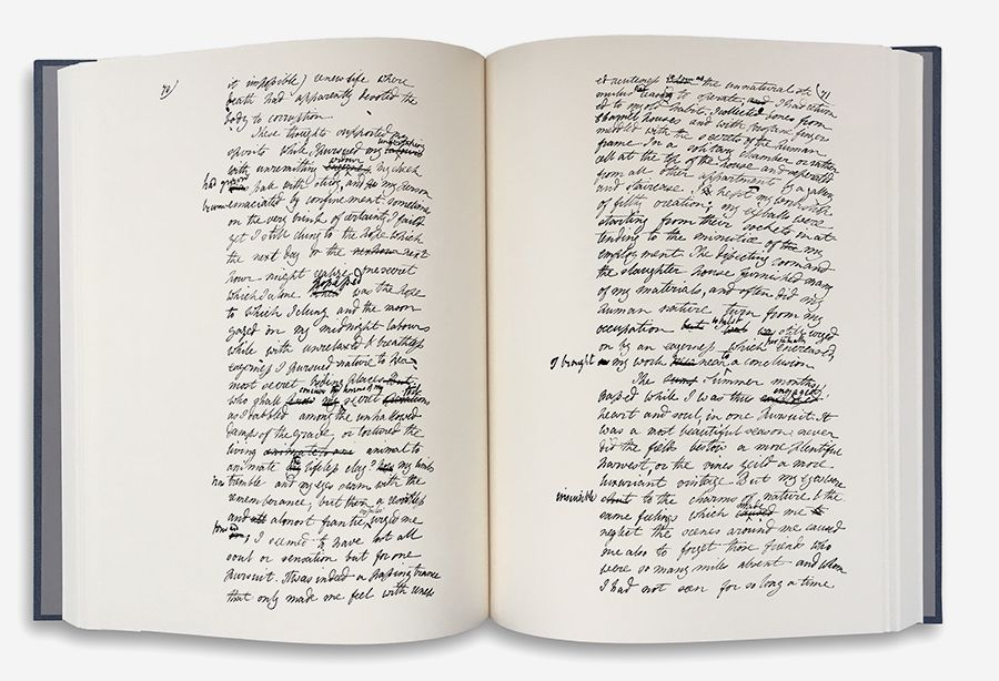 [Frankenstein open book]