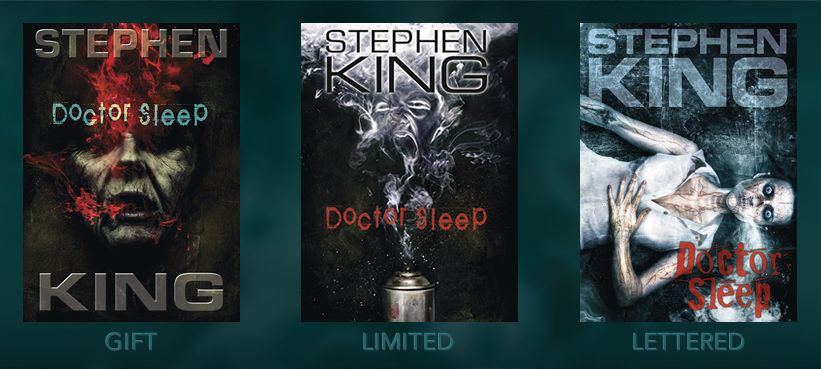 [Doctor Sleep cover gift, limited, lettered editions, cemetery dance, stephen king]