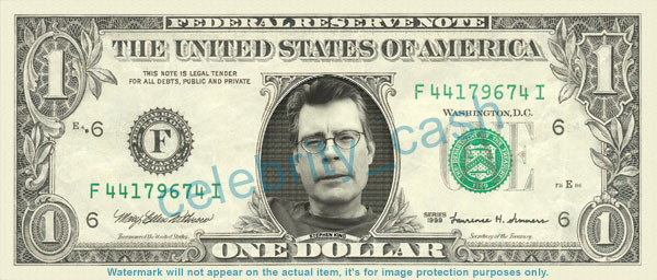 [stephen king one dollar note]