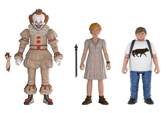 [funko action figures grippe sou pennywise bev ben]