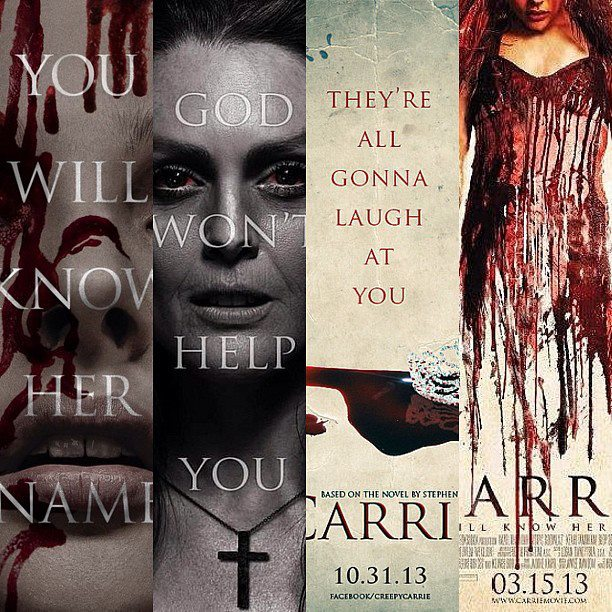 [Carrie 2013 : preview posters, Carrie la vengeance, Stephen King, Chloe Moretz]