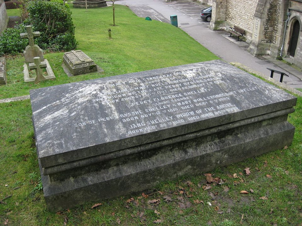 [frankenstein mary shelley tomb]