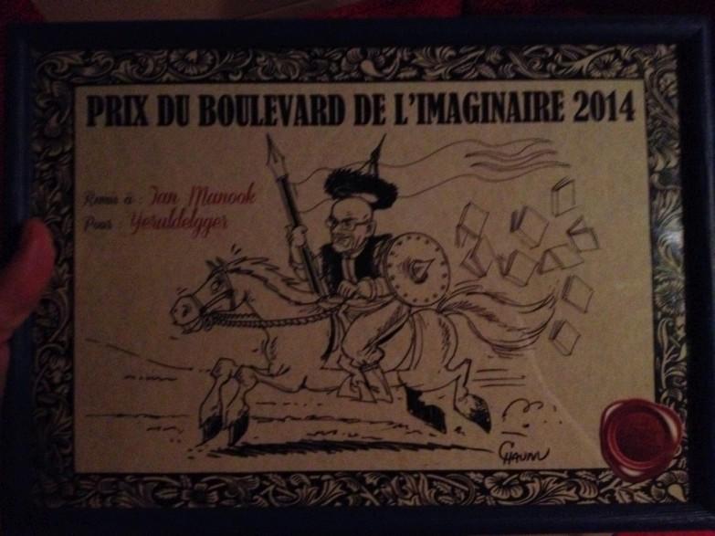 prix boulevard de l'imaginaire, 2014