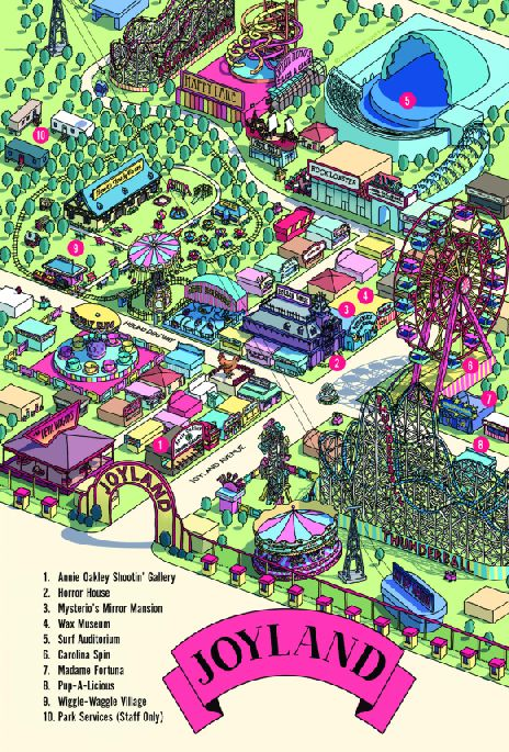 [joyland limited edition map stephen king]