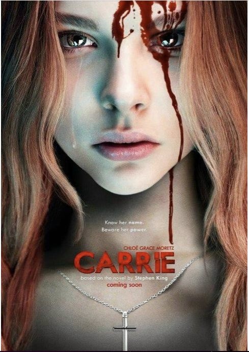 [carrie remake poster chloe moretz fanmade Stephen King - Photo]