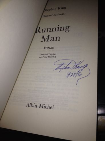 [stephen king signed runningman french]