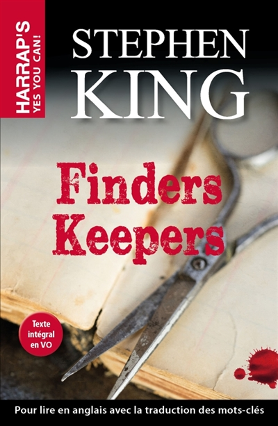 [finders keepers stephenking harraps]