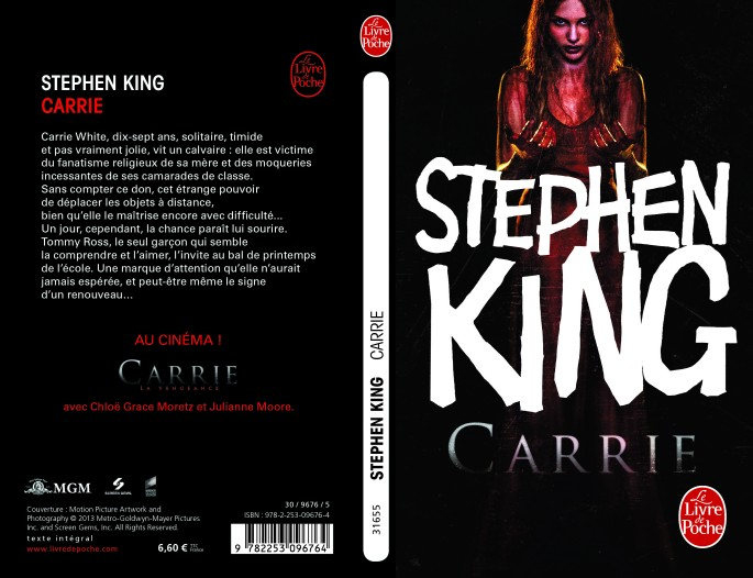 [CARRIE de Stephen King reedition film 2013]