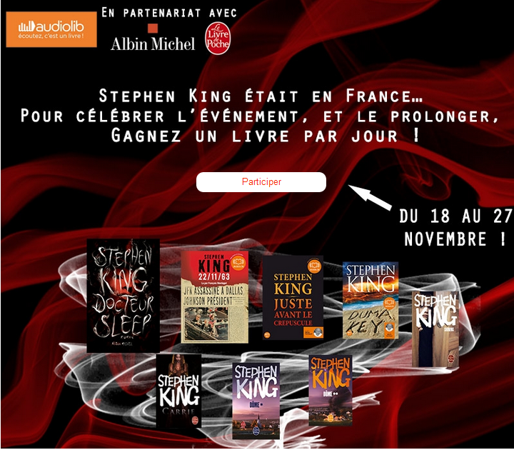 Concours Audiolib Stephen King