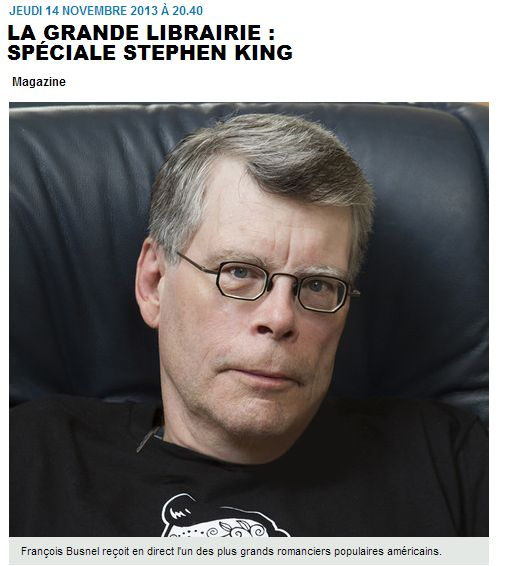 [la grande librairie stephen king france]
