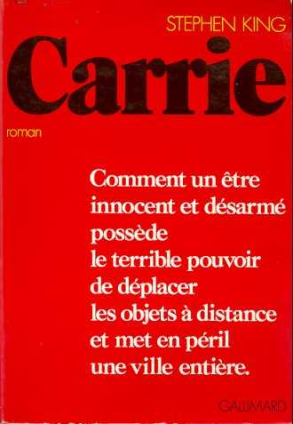 CARRIE, livre Stephen King