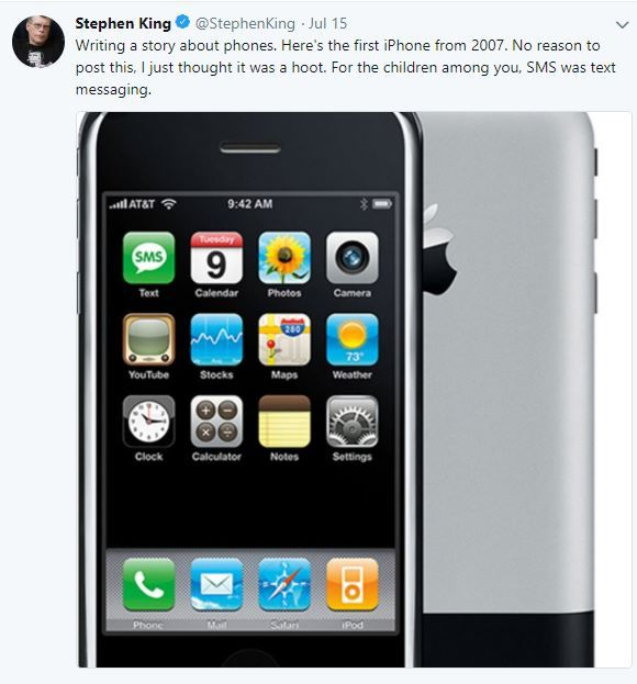 Stephenking Tweet Iphone
