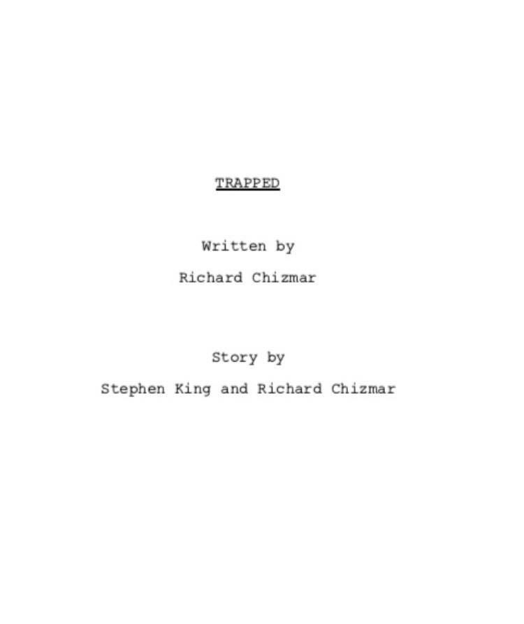 Trapped Script Stephenking